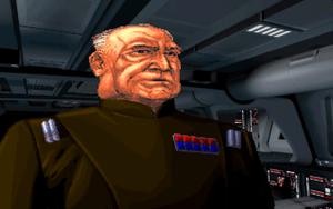 General Rom Moch er spillets skurk. Han vil knuse rebellene med sine «Dark Troopers» - Imperiets beste klonekrigere, omgjort til cyborger.