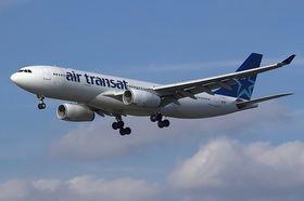 Dette er «gliderversjonen» av A330-200, Air Transat med registrering C-GITS.