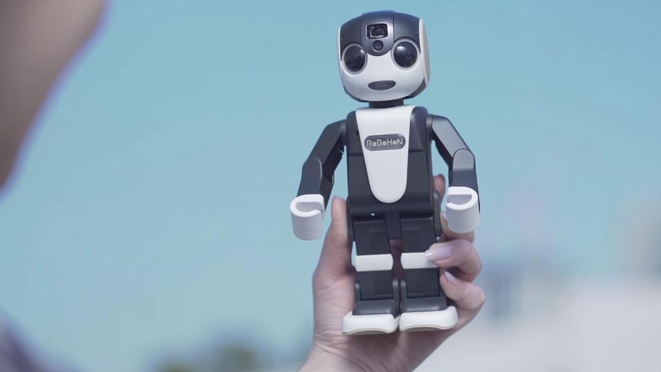 Roboten «RoboHon» er en søt sak, men kanskje litt upraktisk som telefon.