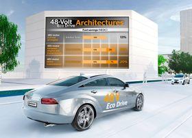 Fremtidige 48 volt-løsninger skal gi større drivstoffbesparelse.