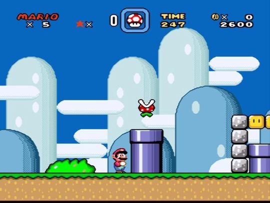 Super Mario World lar spilleren komme inn i en god rytme før det blir vanskelig.