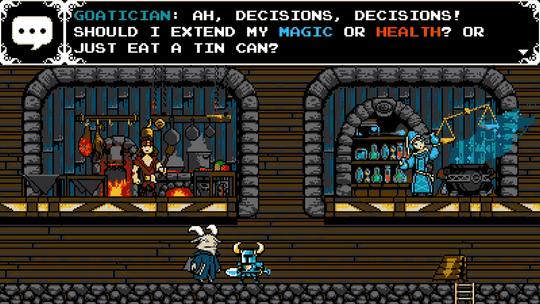 Shovel Knight er et eksempel på et utfordrende spill hvor vanskelighetsgraden kan manipuleres som en del av spillets gang.