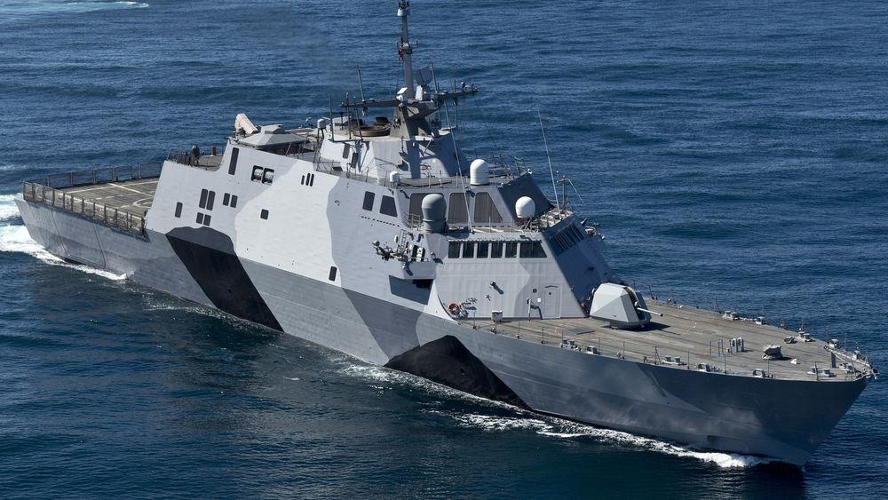 USS Freedom har vært operativt i cirka seks år, og skal senere i år seile ut med NSM på dekk.