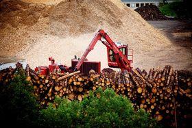 Elkem bruker allerede store mengder trevirke i form av treflis i sin produksjon. Her fra Elkem Salten