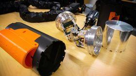 Foreløpig er prototypen av den modulbaserte teknologien i biter på laboratoriet hos NTNU Amos. I høst skal den være klar til å testes i Trondheimsfjorden.