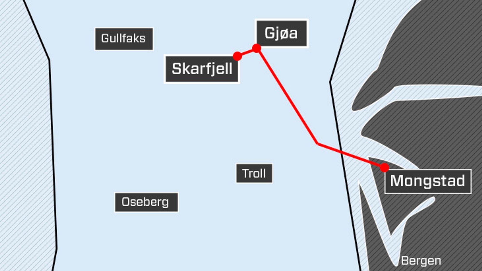 Oljefeltet Skarfjell kan få kraft fra land via Gjøa. Nå har SV sendt inn representantforslag om å kreve elektrifisering av utbyggingen.