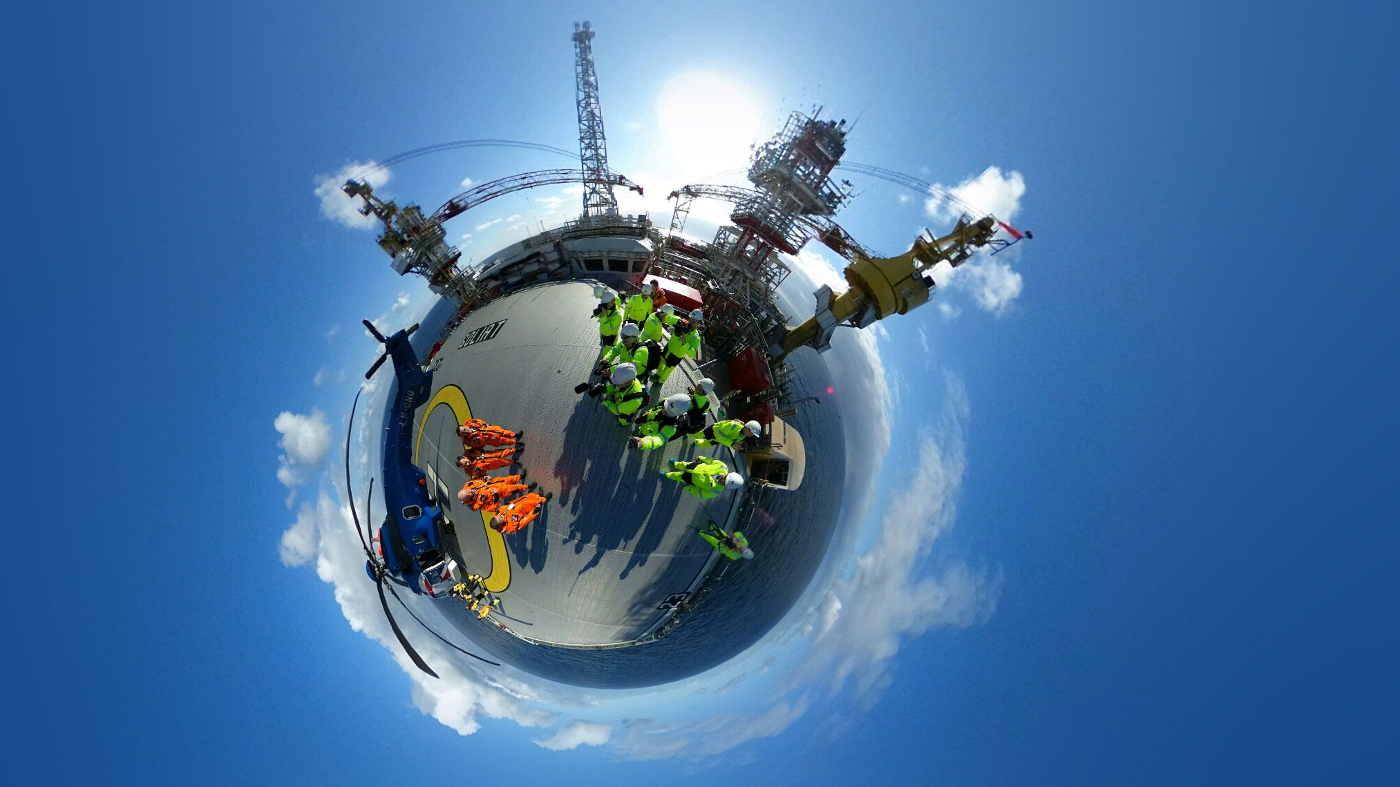 Goliat-plattformen i 360-perspektiv.