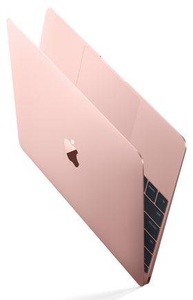 """2016-versjonen av MacBook 12"""" fås nå i rosa."""