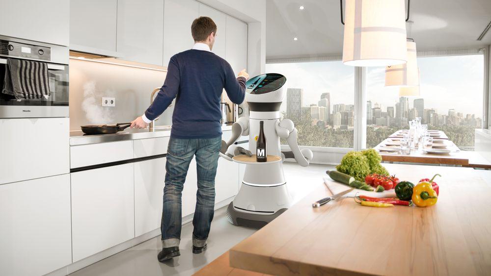 Care-O-bot, prototype på servicerobot i regi avFraunhofer-Institut für Produktionstechnik und Automatisierung IPA
