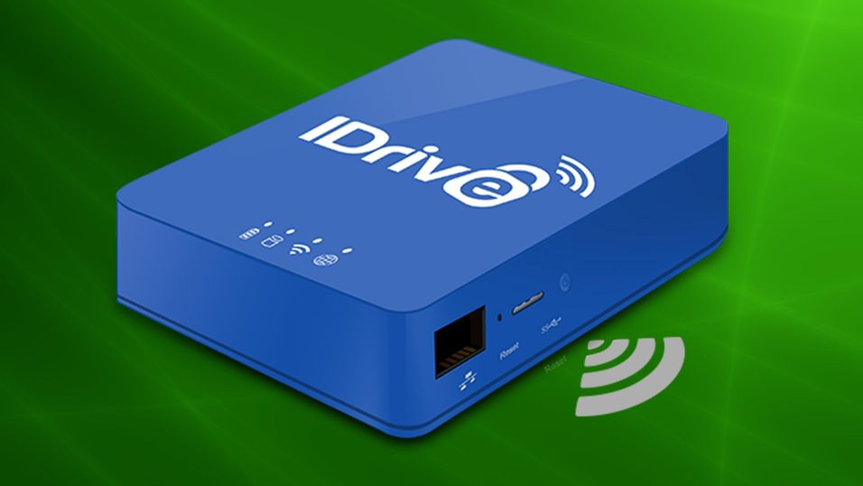IDrive slipper «3-i-1»-disk for hjemmenettverket