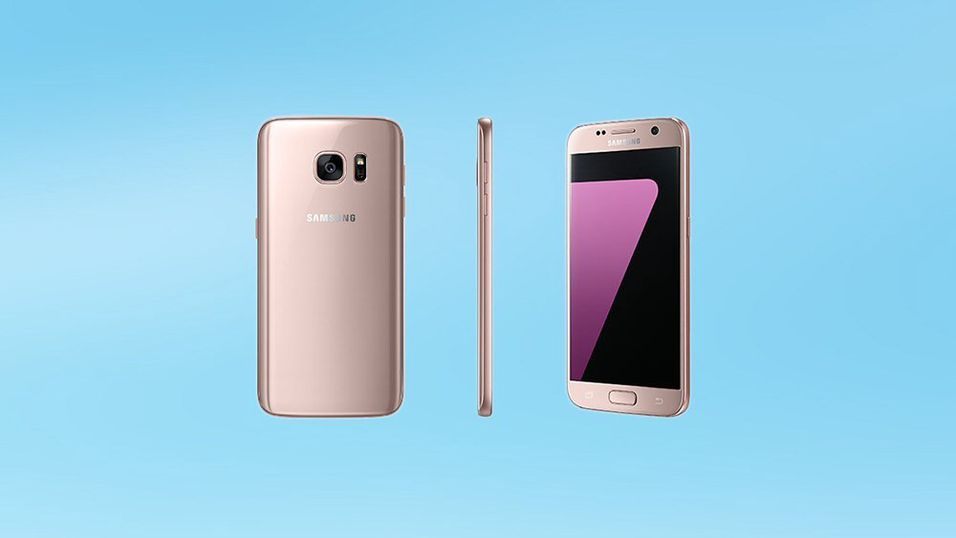 Samsung Galaxy S7 blir tilgjengelig i rosagull