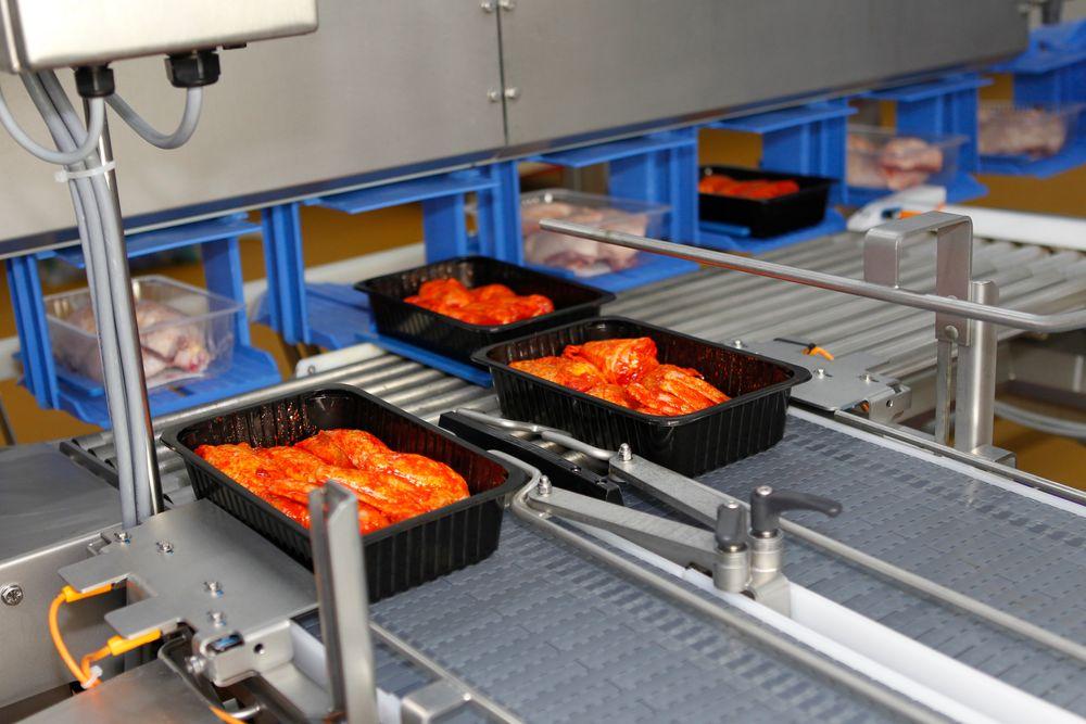 Kylling behandlet og pakket maskinelt.