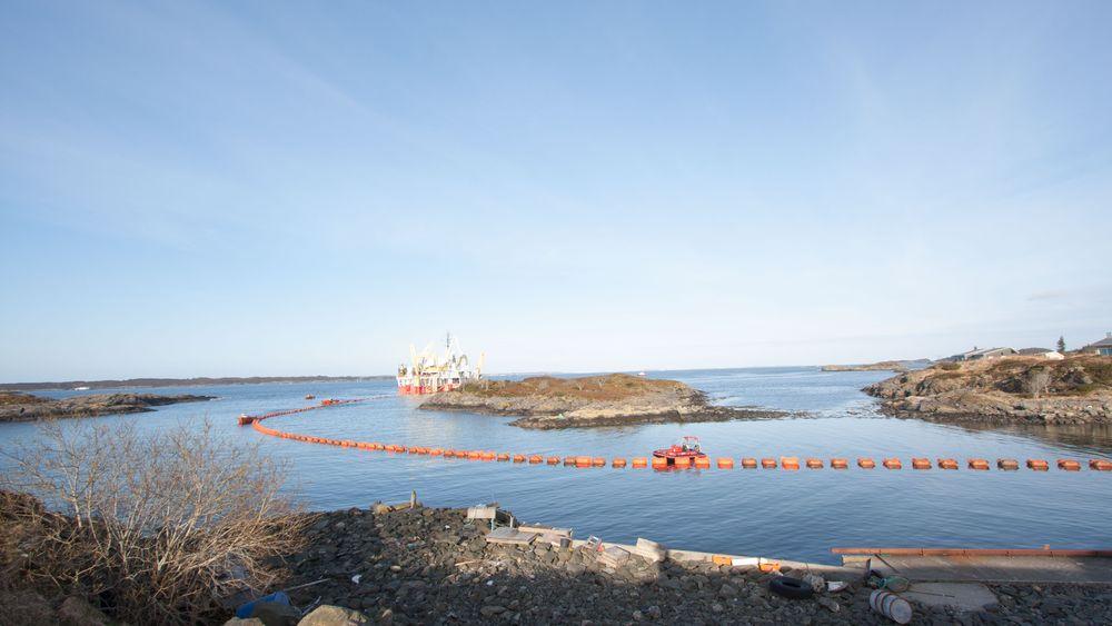 Her legger C/S Nexans Skagerrak de første meterne av det som blir verdens lengste og dypeste PEX-kabel.