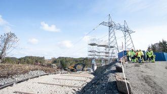 Utbygging av høyspentnett i Hordaland.