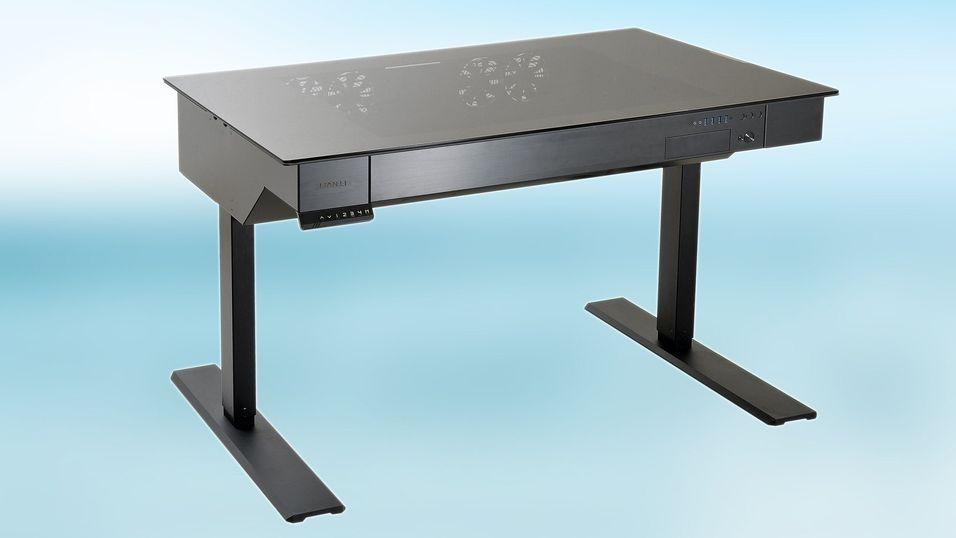 Lian Lis nye skrivebordskabinett har elektrisk heis