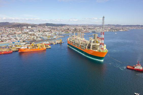 Skipet er innom Haugesund for siste klargjøring, før det skal settes i drift på det BP-opererte Schiehallion-feltet i Nordsjøen.