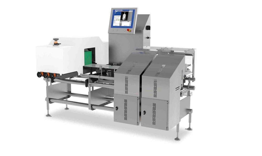 CV3770 kombinasjonssystem fra Mettler Toledo Garvens, kontrollveiing og etikettkontroll.