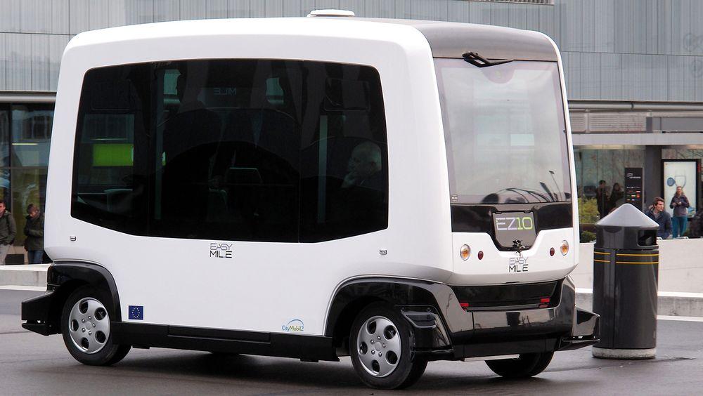 En selvkjørende buss av denne typen skal testes ut i Norge i år.