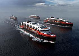 Hurtigruten har skrevet en intensjonsavtale med Kleven om bygging av to skip med opsjon på ytterligere to. Levering er satt til sommeren 2018 og 2019.
