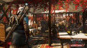Geralt på bankett.