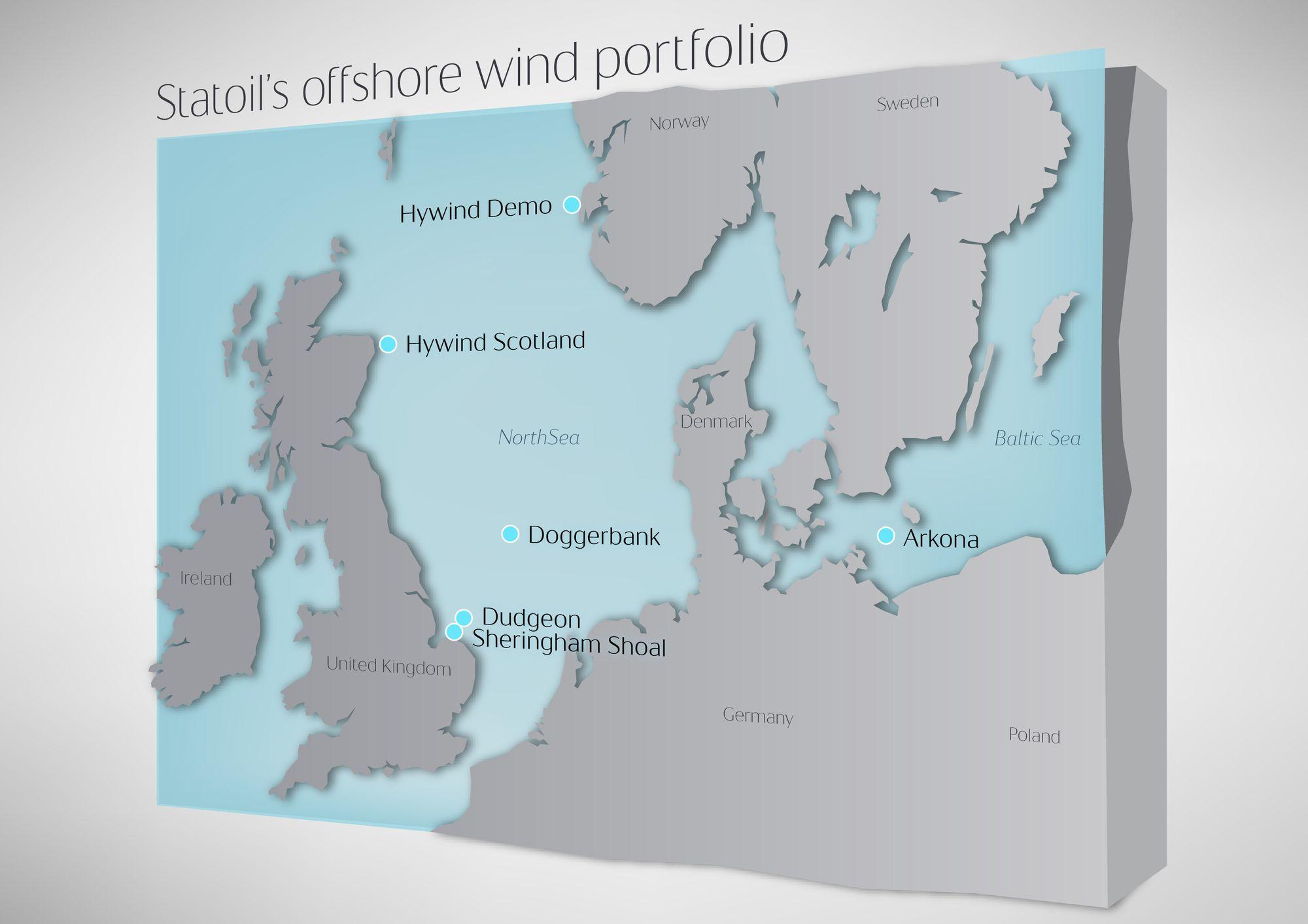 Første utenfor Storbritannia: Hittil har samtlige av Statoils eksisterende og kommende havvindparker ligger i Storbritannia.