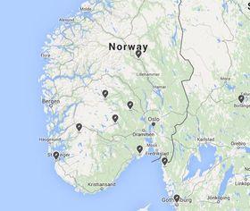 Teslas Destination Charger-nettverk er bygget ut på en håndfull hoteller i Sør-Norge.