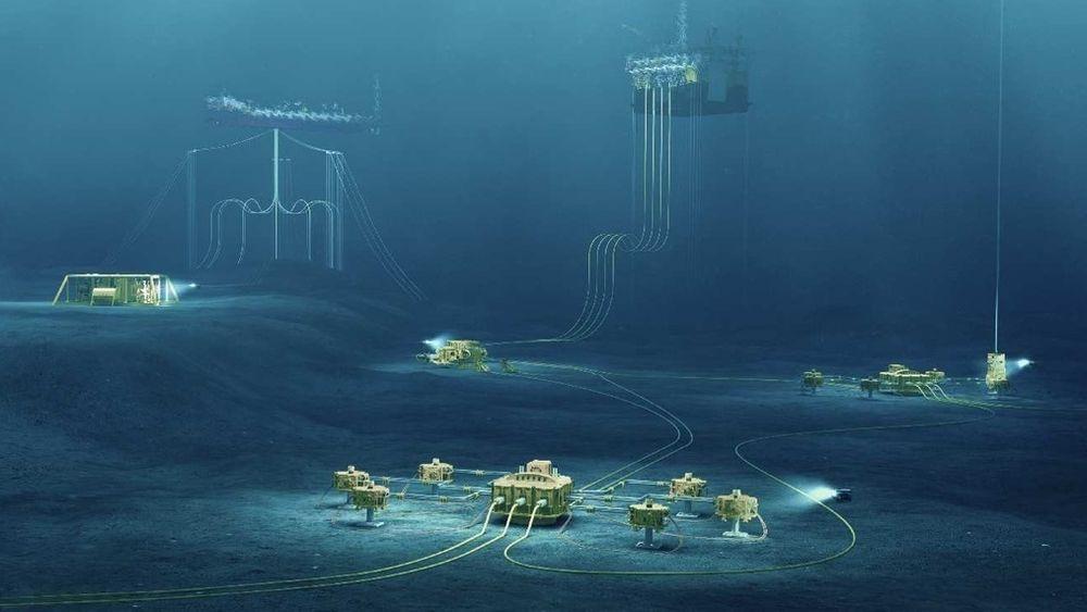 Subsea illustrasjonsfoto