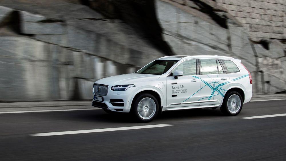 Slik ser testbilene til Volvo ut.