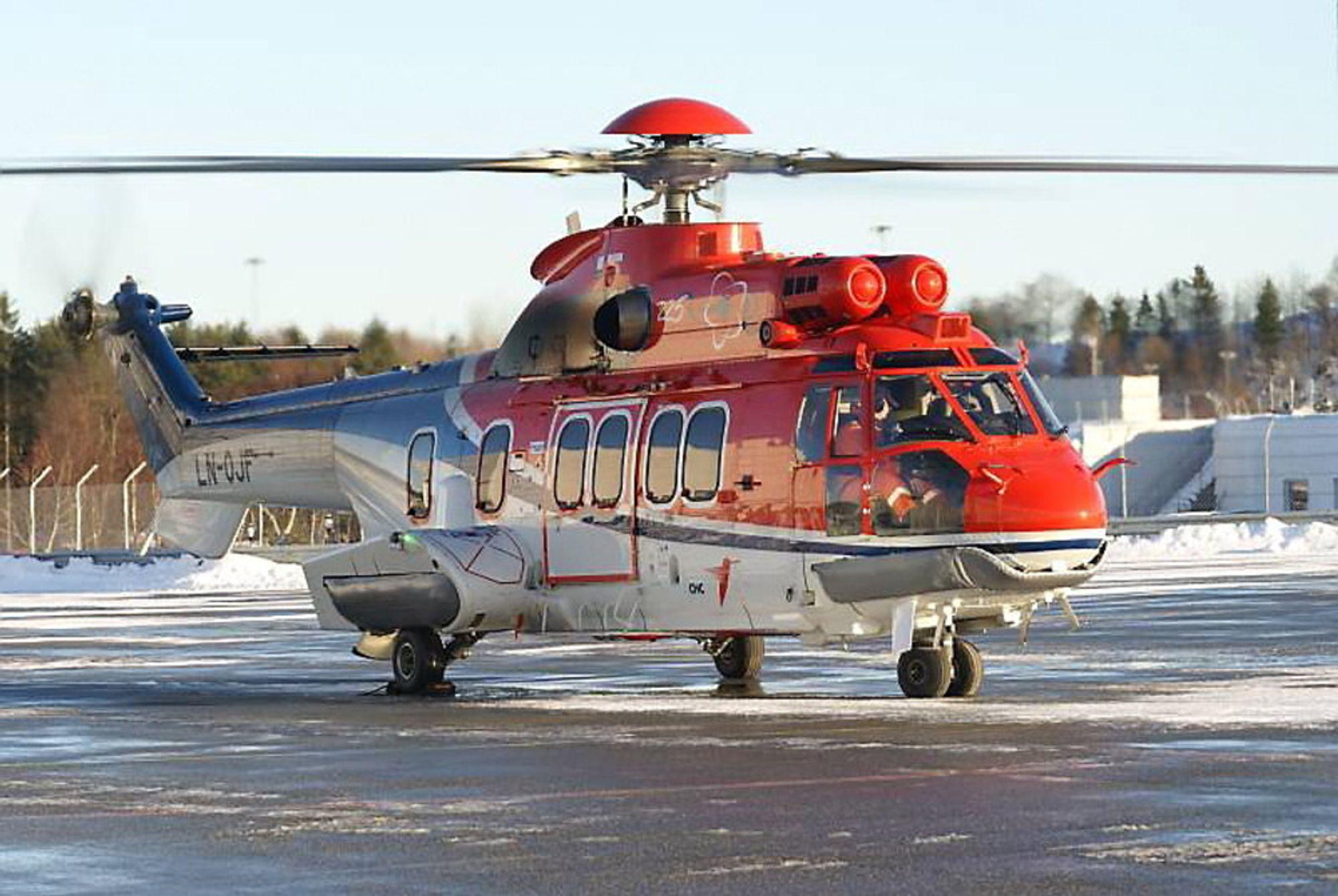 Det var dette helikopteret, et EC225 Super Puma med registreringsnummer LN-OJF, som havarerte 29. april.