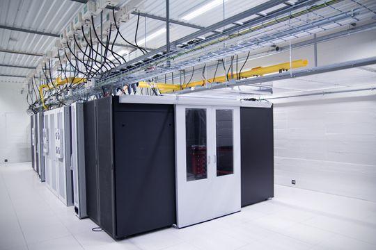 Et av de to datarommene til Matiq i Trondheim er beskyttet av tre meter tykke vegger.