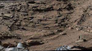 Her er Mars-kjøretøyet i ferd med å krysse sitt vanskeligste terreng hittil