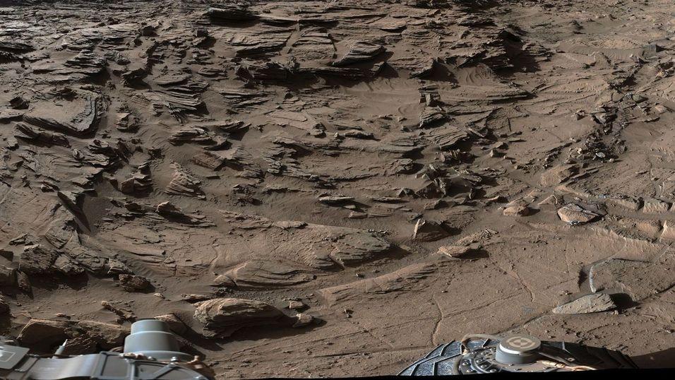 Et utdrag fra 360-gradersbildet fra Curiosity.