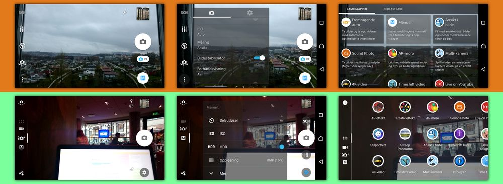 Kamera-appen er nå den samme som hos Z5-serien – enklere og ryddigere.