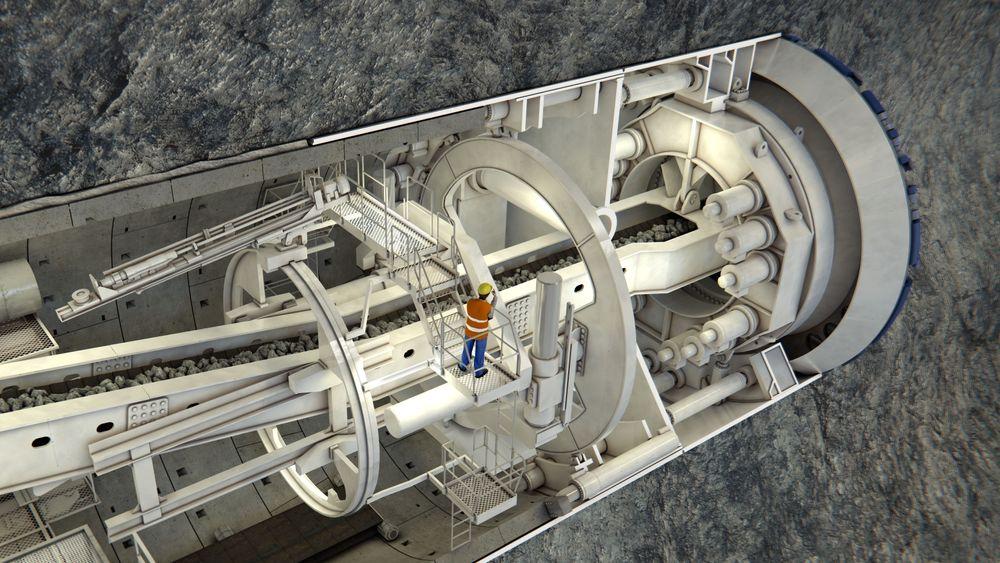 Maskinene som skal drive Follobanen er av type Double shield, og kan   bore samtidig som den ferdigstøpte foringen bygges.