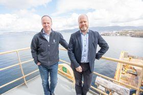 Hans Petter Mortensholm, prosjektleder i Kystverket, og Johan Marius Ly, beredskapsdirektør i Kystverket.