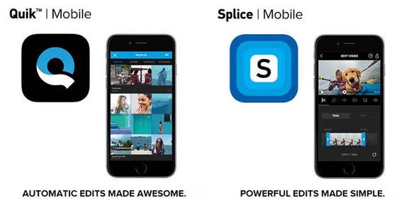De to appene Splice og Quik skal gjør mobil videoredigering til GoPro enkelt.