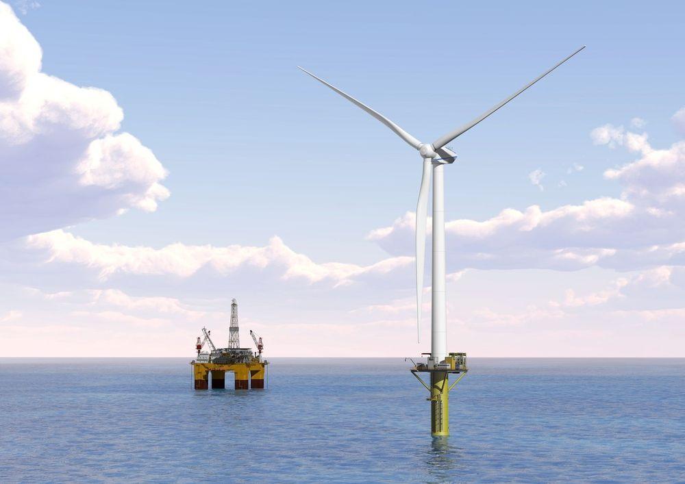 Vindkraft: Flytende vindmøller kan få stadig flere funksjoner. Illustrasjon: DNV GL.