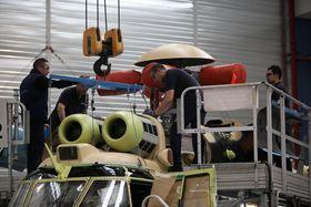 Fra Airbus Helicopters EC225-fabrikk i Marignane i Frankrike.