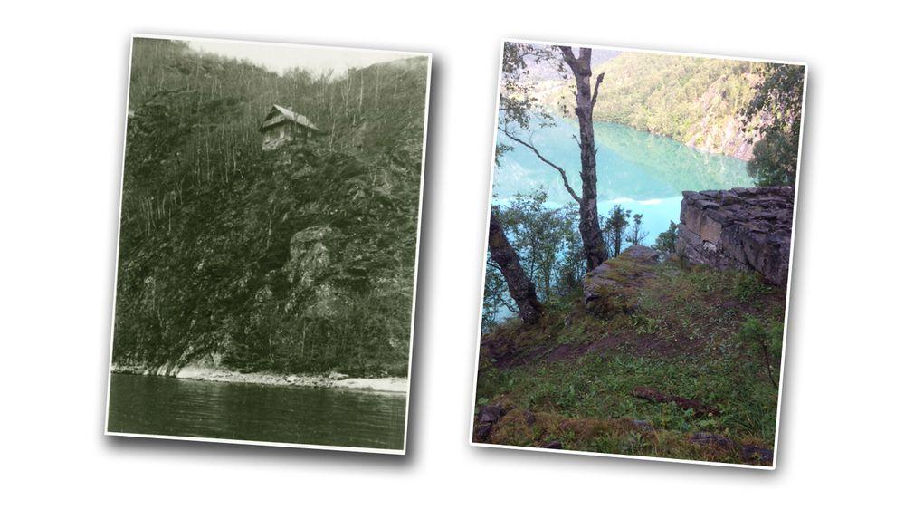 - Filosofen Wittgenstein bygde sitt hus på en vanskelig tilgjengelig bratt skrent 30 meter over Eidsvannet i 1913. Huset var lettest å nå med robåt. Der skrev han noen av sine viktigste og verdensberømte verk.