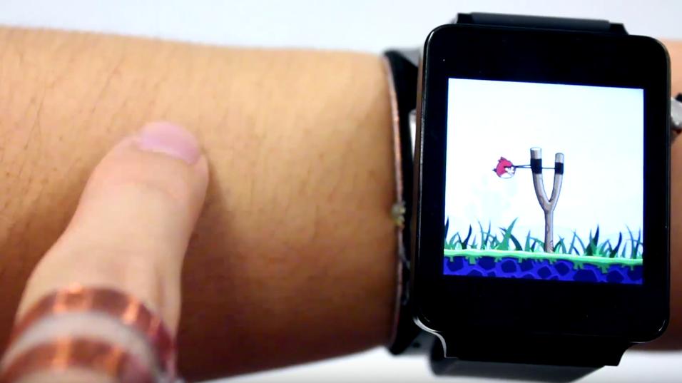 Løsningen lar deg spille Angry Bird på armen.