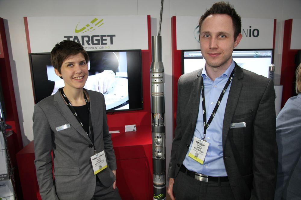 Gründer Monika Bakke Malmin i Target Intervention og en av hennes første ansatte, mekanisk ingeniør for forskning og utvikling, Kenneth Bergland.
