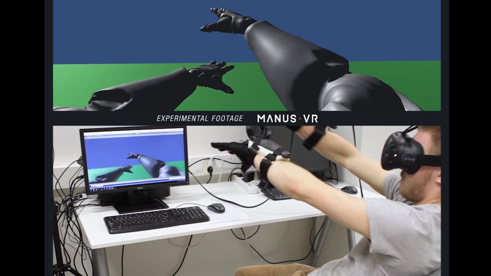 Den nye Manus VR-teknologien bringer hele armen inn i VR-verdenen.