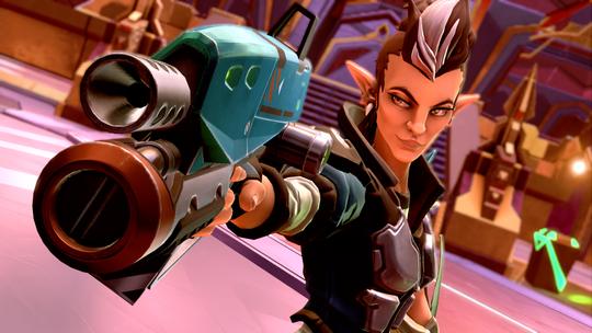 Mellka er den første figuren man spiller som, i Battleborns prolog.