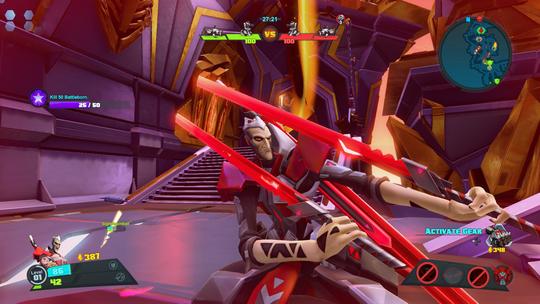 Viktig å posere når man har knertet en annen spiller, samme hvor kaotisk det var.