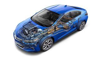 Chevrolet Volt er en hybridbil med Voltec-drivlinje.