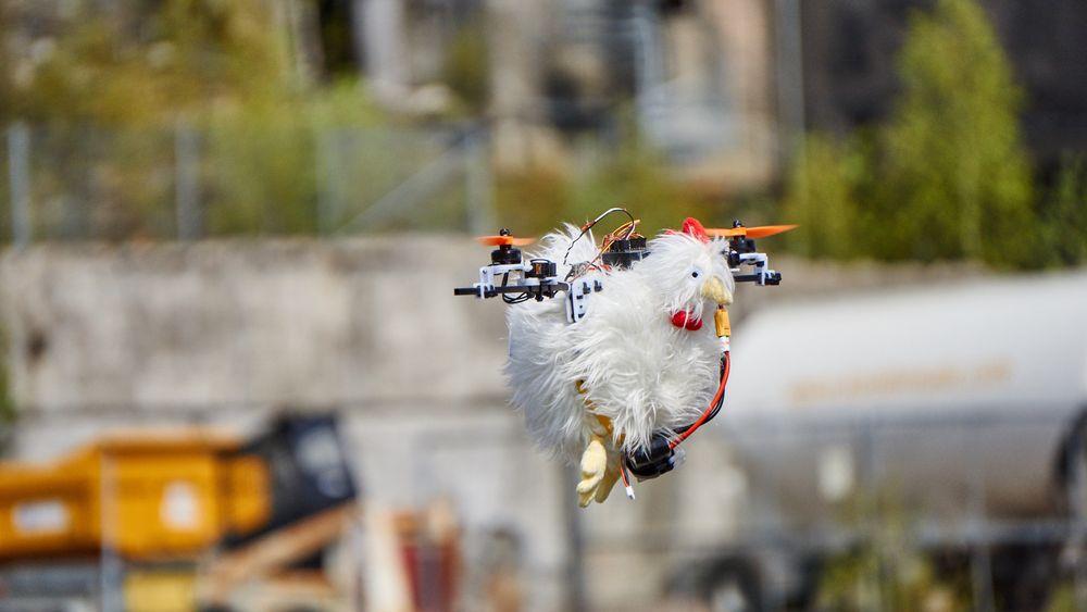 Turid klarte seg bra i lufta, til tross for kun to propeller.