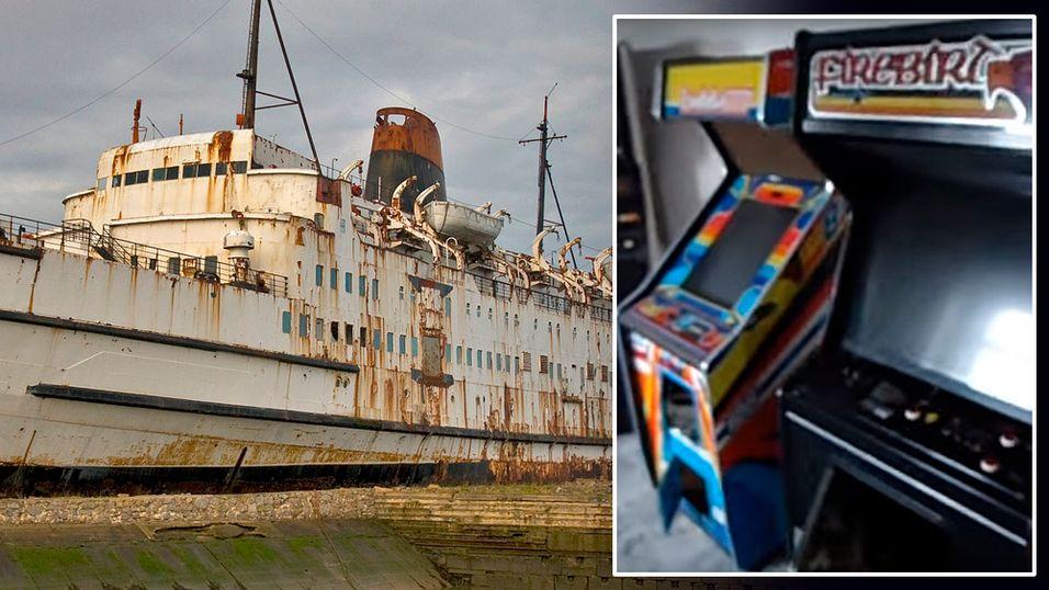 Reddet over 50 arkademaskiner fra et gammelt skip