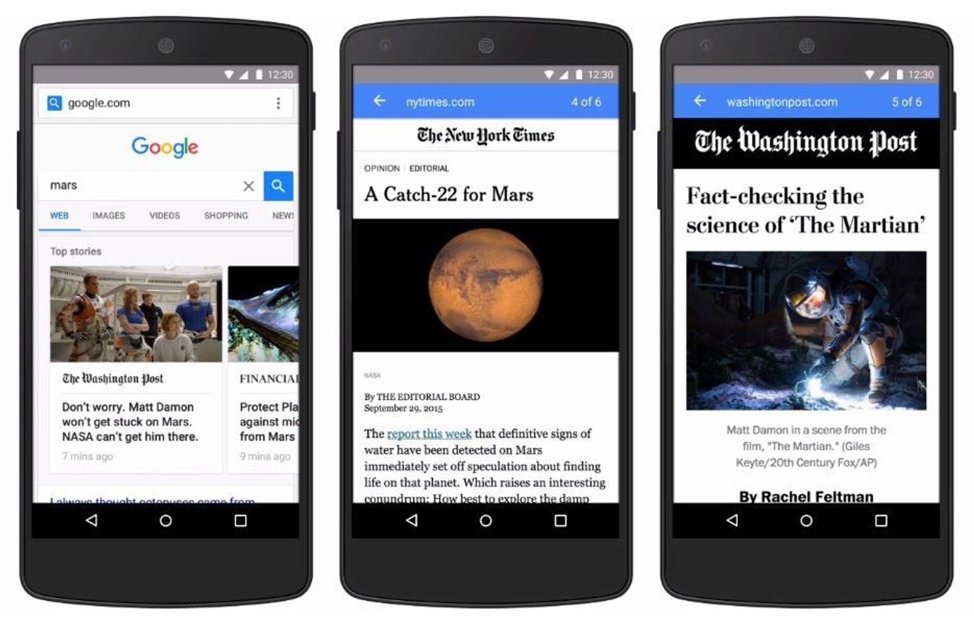 Med et utgangspunkt i at det tar for lang tid å laste inn websider i nettleseren til mobiltelefoner, etablerte Google i fjor sitt Accelerated Mobile Pages-prosjekt (AMP).