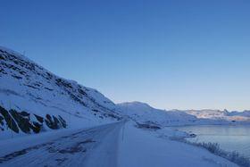 Snøskredtårn ved Tyin, sett fra fv. 53. Bildet ble tatt under prøveprosjektet som ble gjennomført i 2010 - 2012.