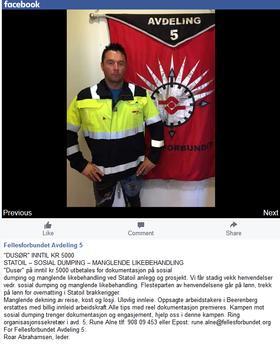 Fellesforbundets avdeling 5 utlover dusør for bevis på sosial dumping i Statoil.